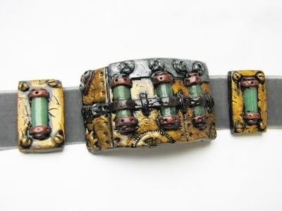 Tutoriel un bracelet steampunk en fimo