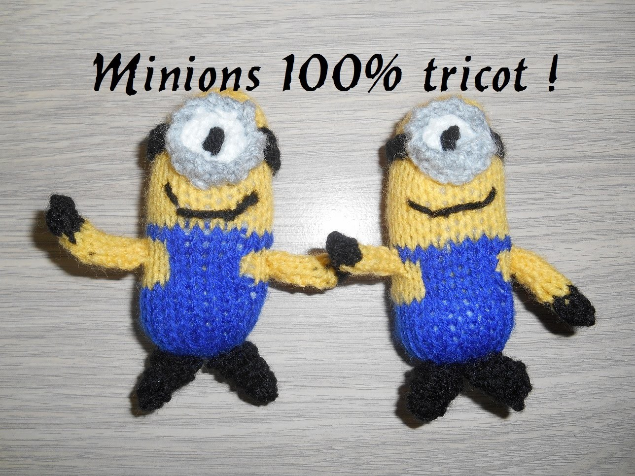 Tricoter des minions facile, knitting minion easy, 100% tricot !