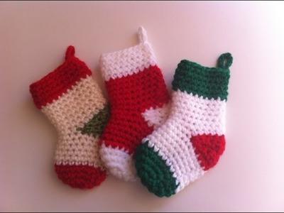 Chaussettes de noël crochet. Christmas boots crochet easy