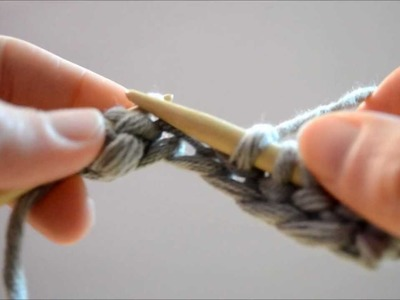 Tricot. La maille endroit (point mousse)