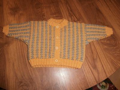 Tuto tricot layette gilet bébé 3 mois expliqué au fur et à mesure du diaporama