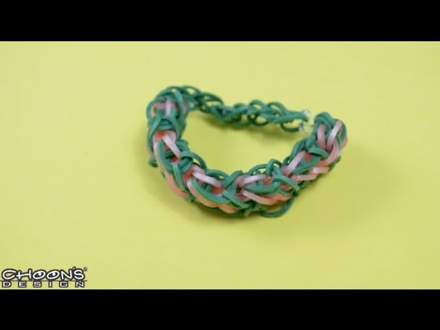 Tutoriel Rainbow Loom : Bracelet Diamants Superposés