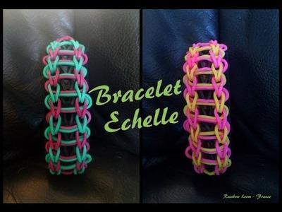 Bracelet Echelle Rainbow loom® Tutoriel Français (Niveau Débutant)
