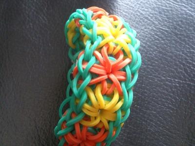 Bracelet Fleurs Rainbow loom® Tutoriel Français (Niveau Intermédiaire)