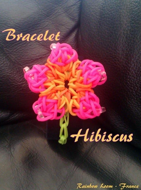Bracelet Hibiscus Rainbow Loom® Tutoriel Français (Niveau débutant)
