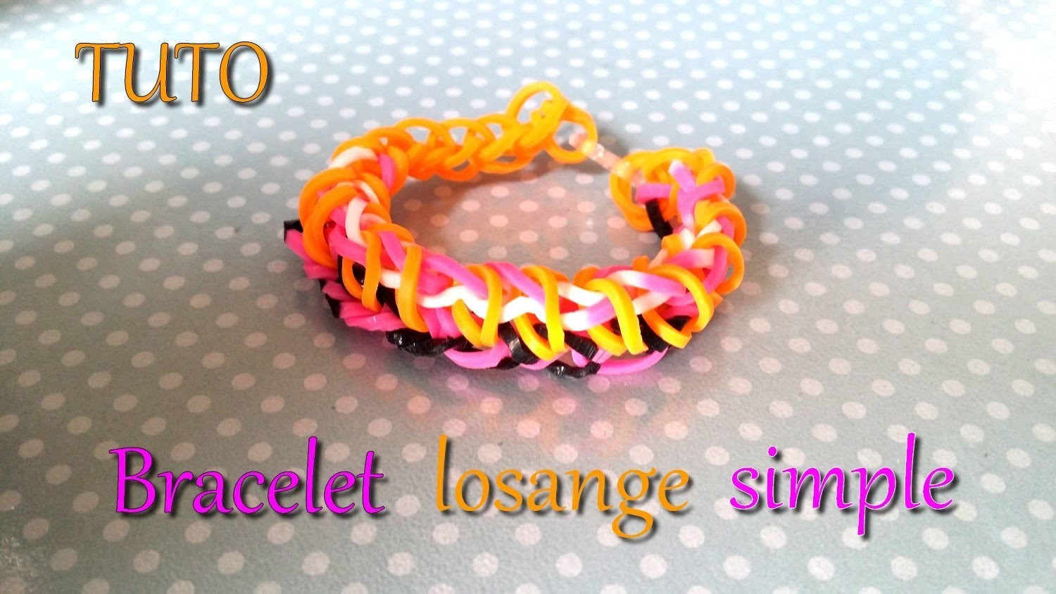 [ TUTO ] bracelet losange simple ben élastique