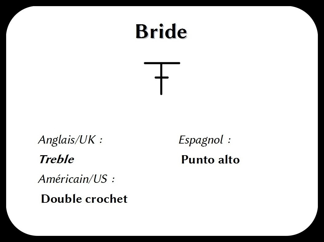 Les bases au crochet : La bride simple