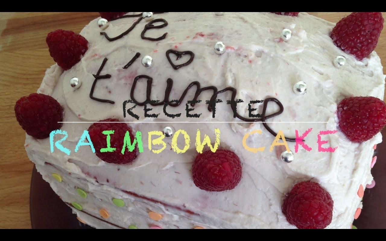 Recette Rainbow Cake pour la Saint Valentin .