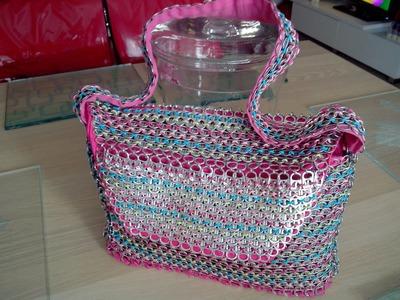 TUTORIEL : Comment fabriquer facilement un sac en capsules de canettes avec différentes matières ?