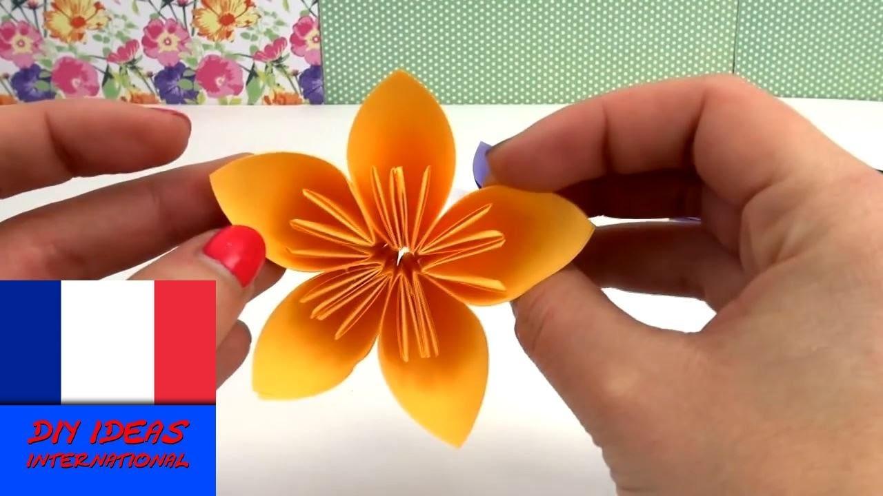 Origami fleur DIY. Belles fleurs pour le printemps. Tutoriel spécial Pâques | français