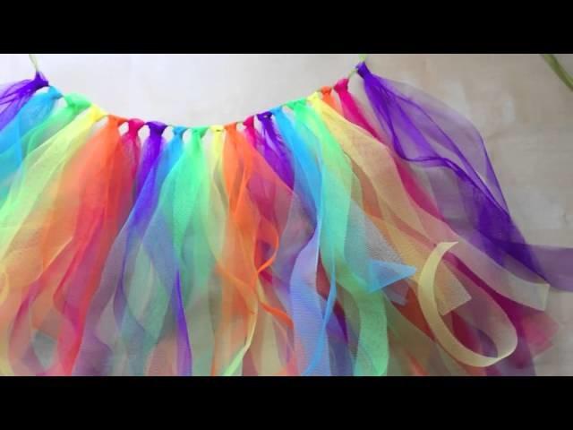 DIY Tutu Arc-en-Ciel , Rainbow tulle skirt