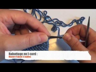 Tricot : Rabattage des mailles en I-cord