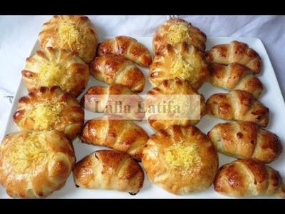 Brioches et croissants avec la pâte à mayonnaise