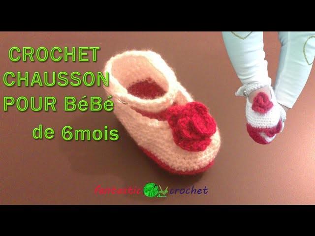 Crochet Baby Booties   part 2. Baby Shoes Crochet  كروشيه حذاء للبيبي