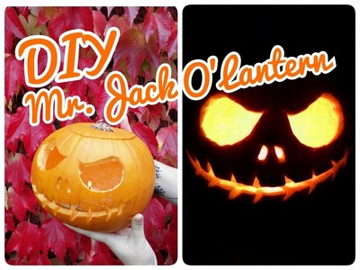 DIY Citrouille d'Halloween, Mr.Jack O'Lantern ♥