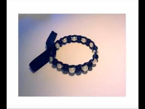 D I Y Création Bracelet perle et ruban youtube original HQ 2014