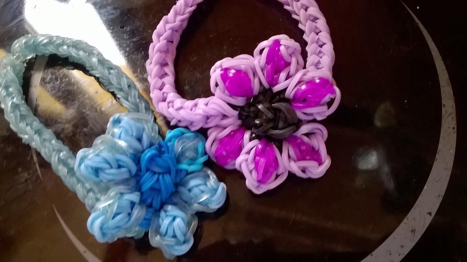 Fleur, flower rainbow loom tuto en français
