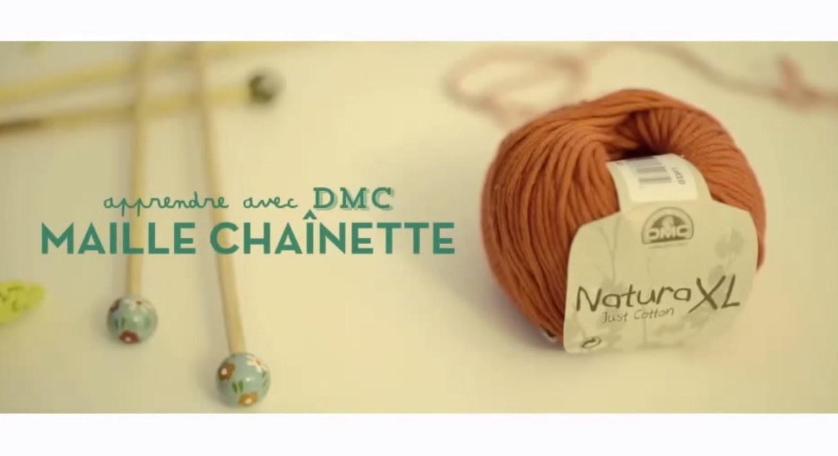 Tuto crochet débutant : Maille chaînette (maille en l'air) avec DMC