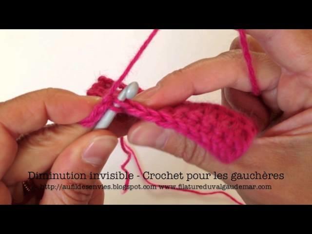 Crochet pour les gauchères : la diminution invisible en mailles serrées