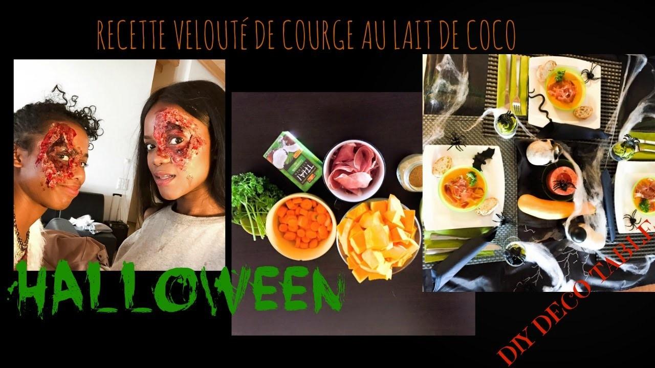 HALLOWEEN. RECETTE SOUPE COURGE AU LAIT DE COCO. DIY DECO