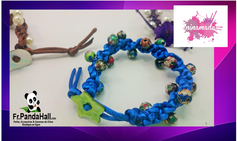 Tuto4.DIY.Bracelet avec perles cloisonnées. Fr.Pandahall.com.