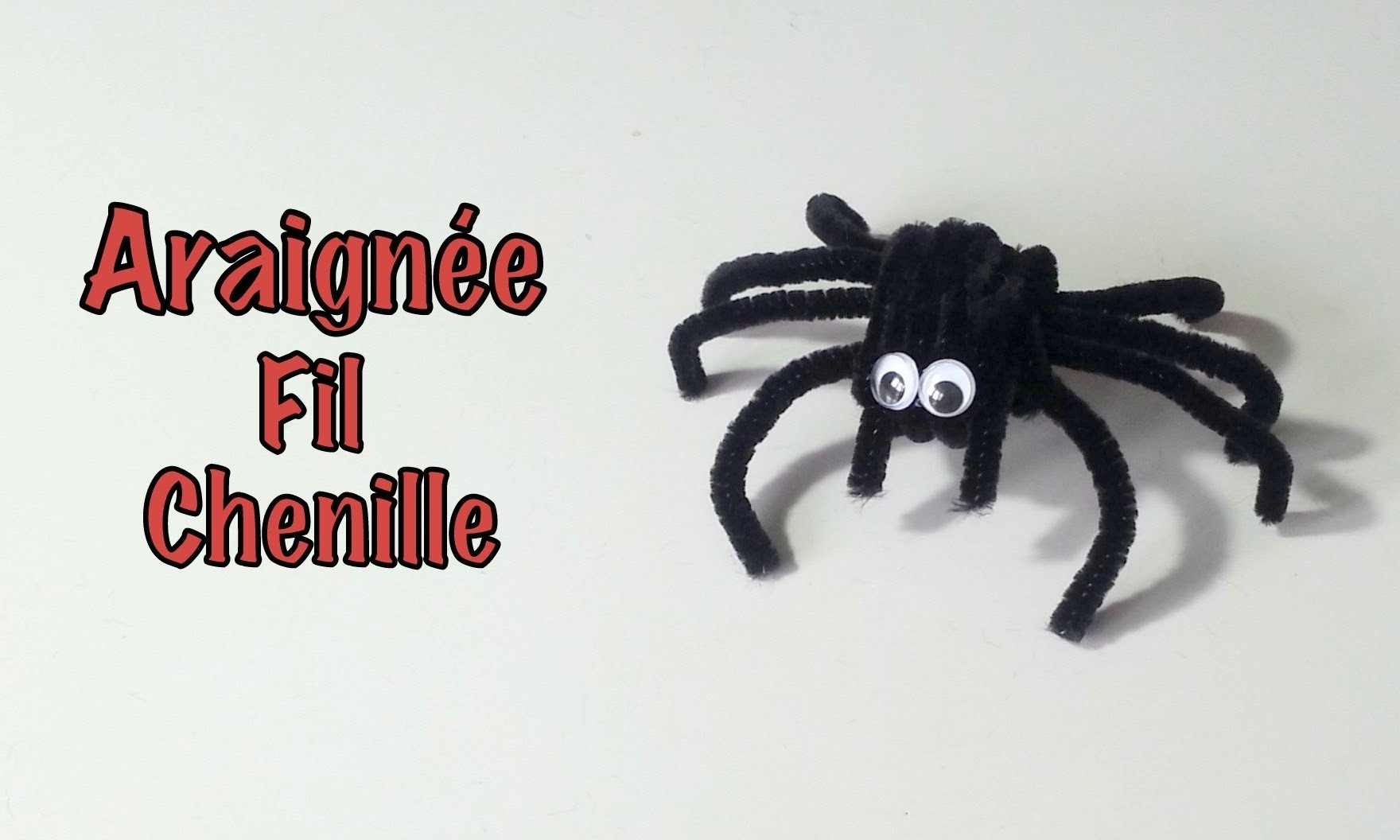 DIY Déco Halloween Araignée fil chenille