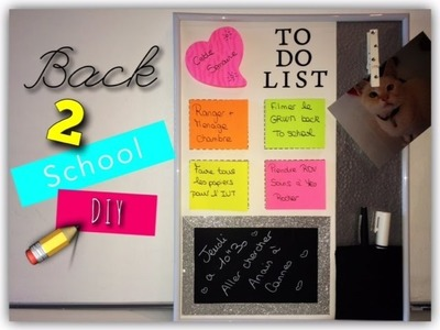 ♡ BACK TO SCHOOL : DIY Tableau