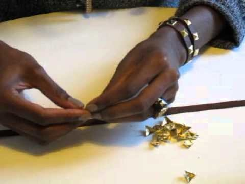DIY TUTORIEL: LE BRACELET A CLOUS