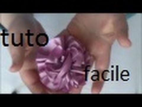 Tuto fleur en ruban de satin n° 2 trés facile