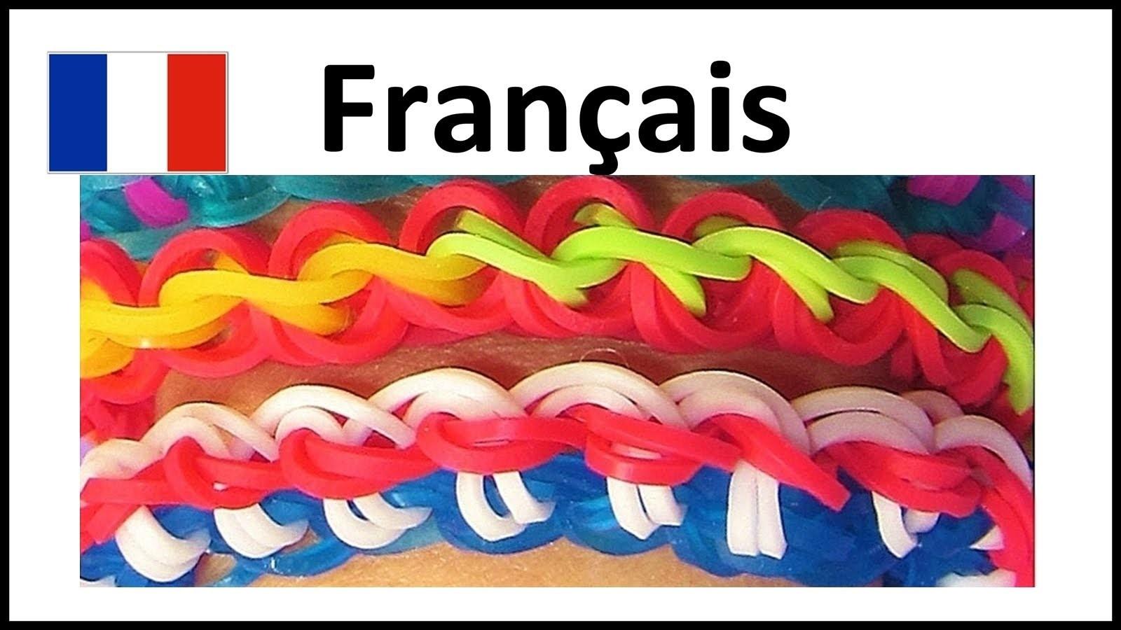 Bracelet Elastique: Rainbow Loom Francais | Torsion Français, loom bands, tutoriel