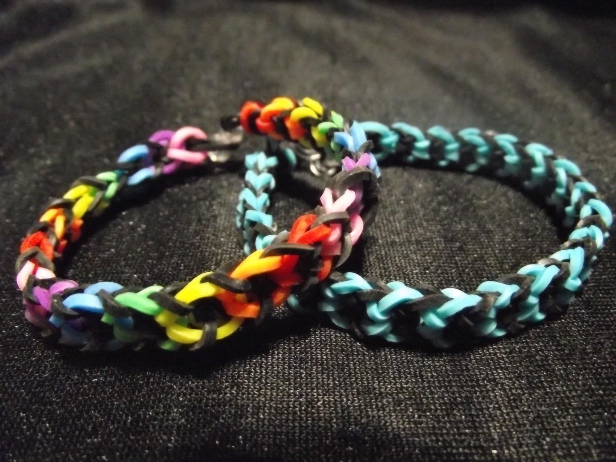 Rainbow loom bands. Le bracelet elastique mistigri (francais)