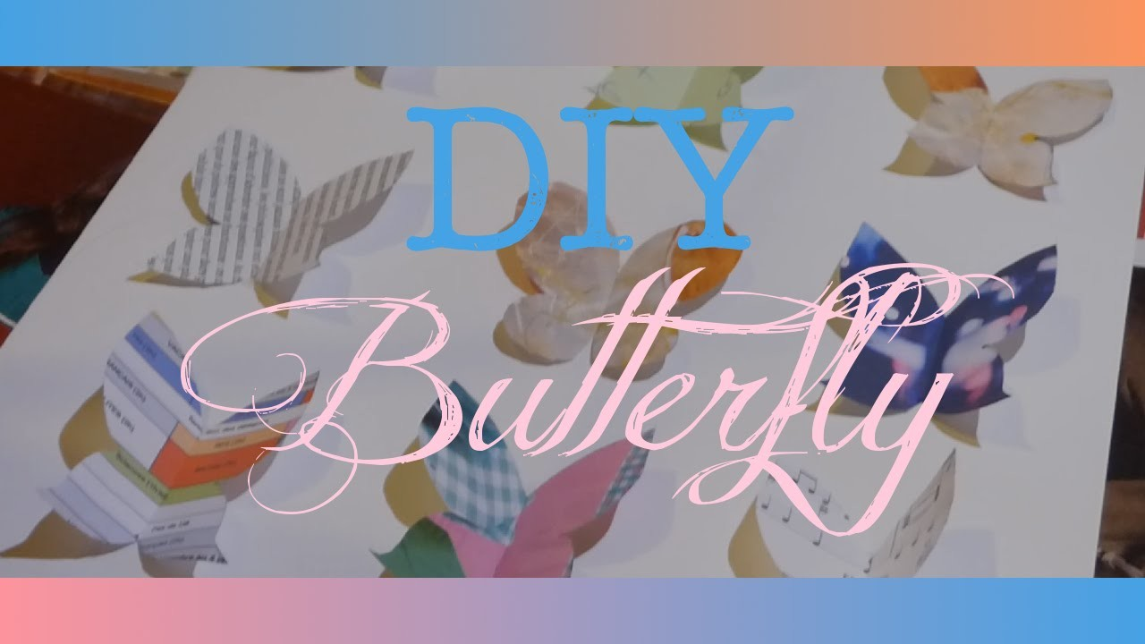 [DIY] Room decor très facile: butterfly!
