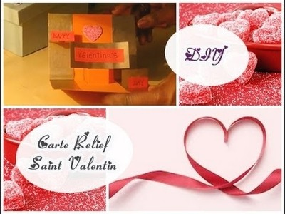❤ Be My Valentine - DIY Carte en relief #2