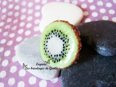 Tuto Fimo tranche de Kiwi sans cane - Polymer Kiwi slice tutorial No Cane