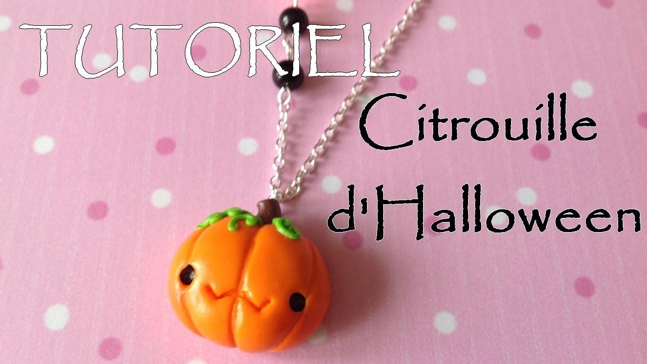 Tutoriel Fimo - La citrouille d'Halloween. Polymer Clay Tutorial - Cute Halloween pumpkin