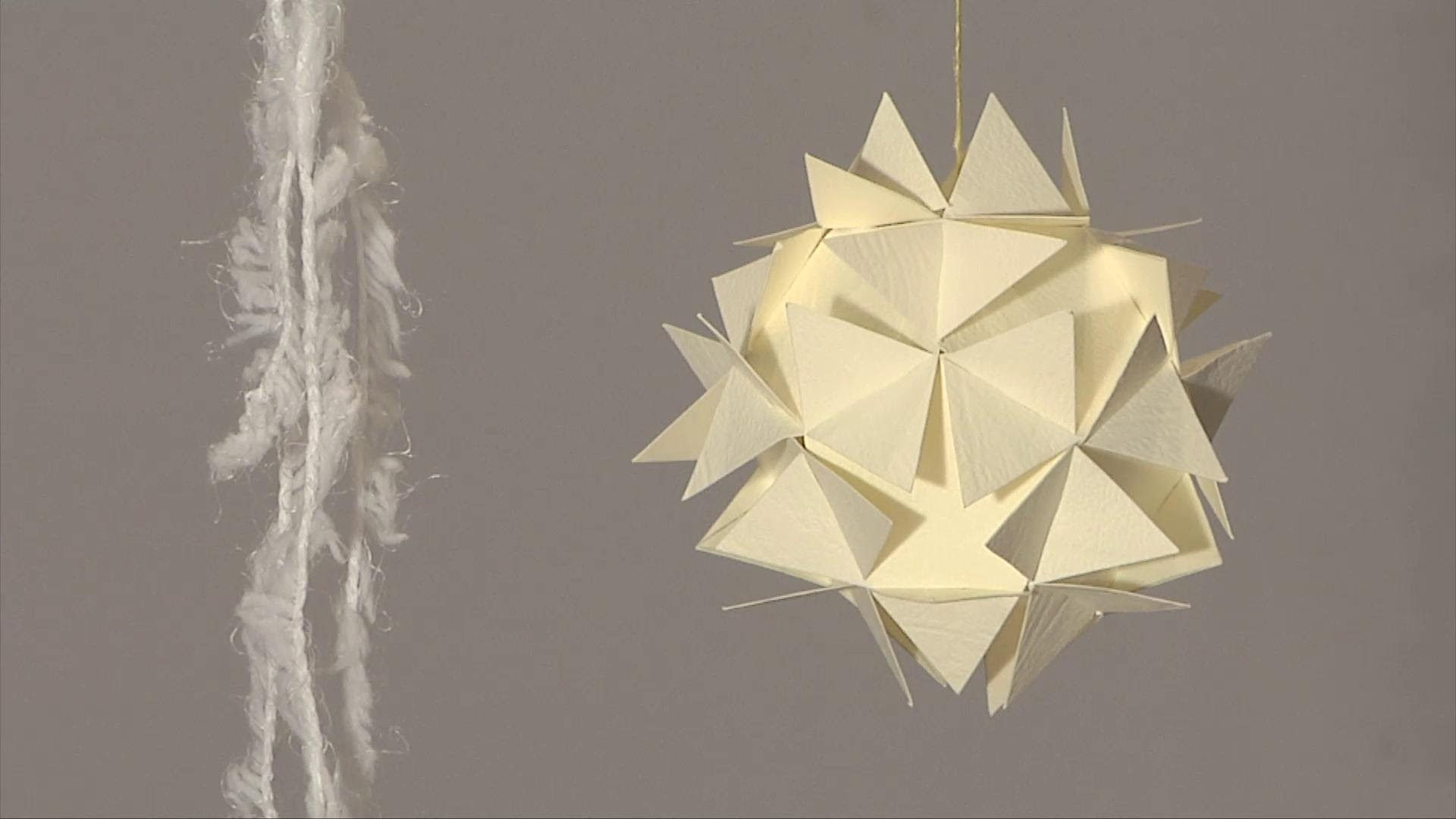 Noel deco !! Christmas decoration !! boule 3D en papier diy