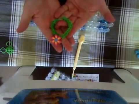 Rainbow loom bracelet simple avec breloque, français