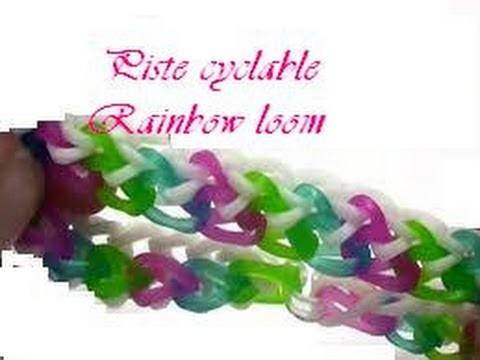 Bracelet piste cyclable Rainbow loom