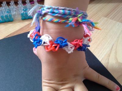 Vidéo bracelet coupe du monde en rainbow loom