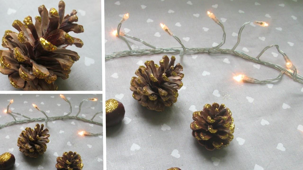 ✄ DIY.It's Christmas time !. : Pommes de pain et marrons paillettés !