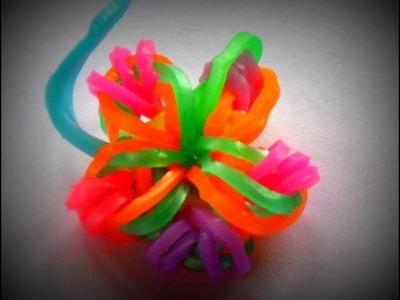 ♥ -Tuto- Rainbow loom, fleur simple en elastique. ♥