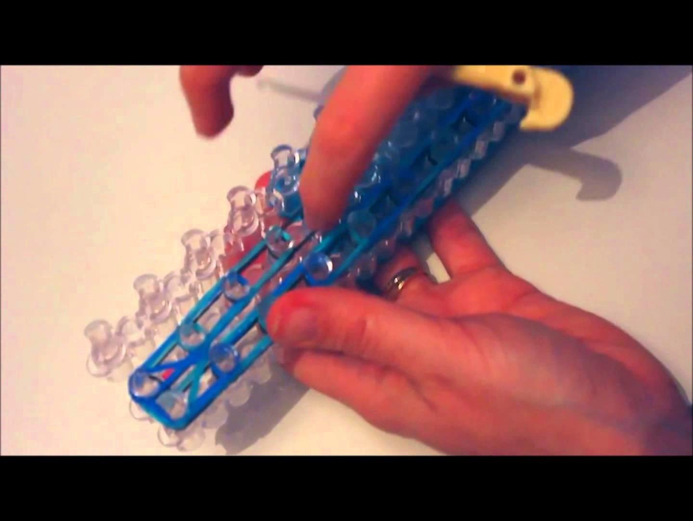 Création d'un bracelet élastique RAINBOW LOOM en triple liens
