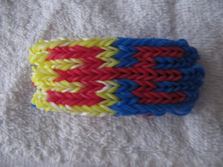 Tuto : Bracelet  rainbow loom kabyle version 2015