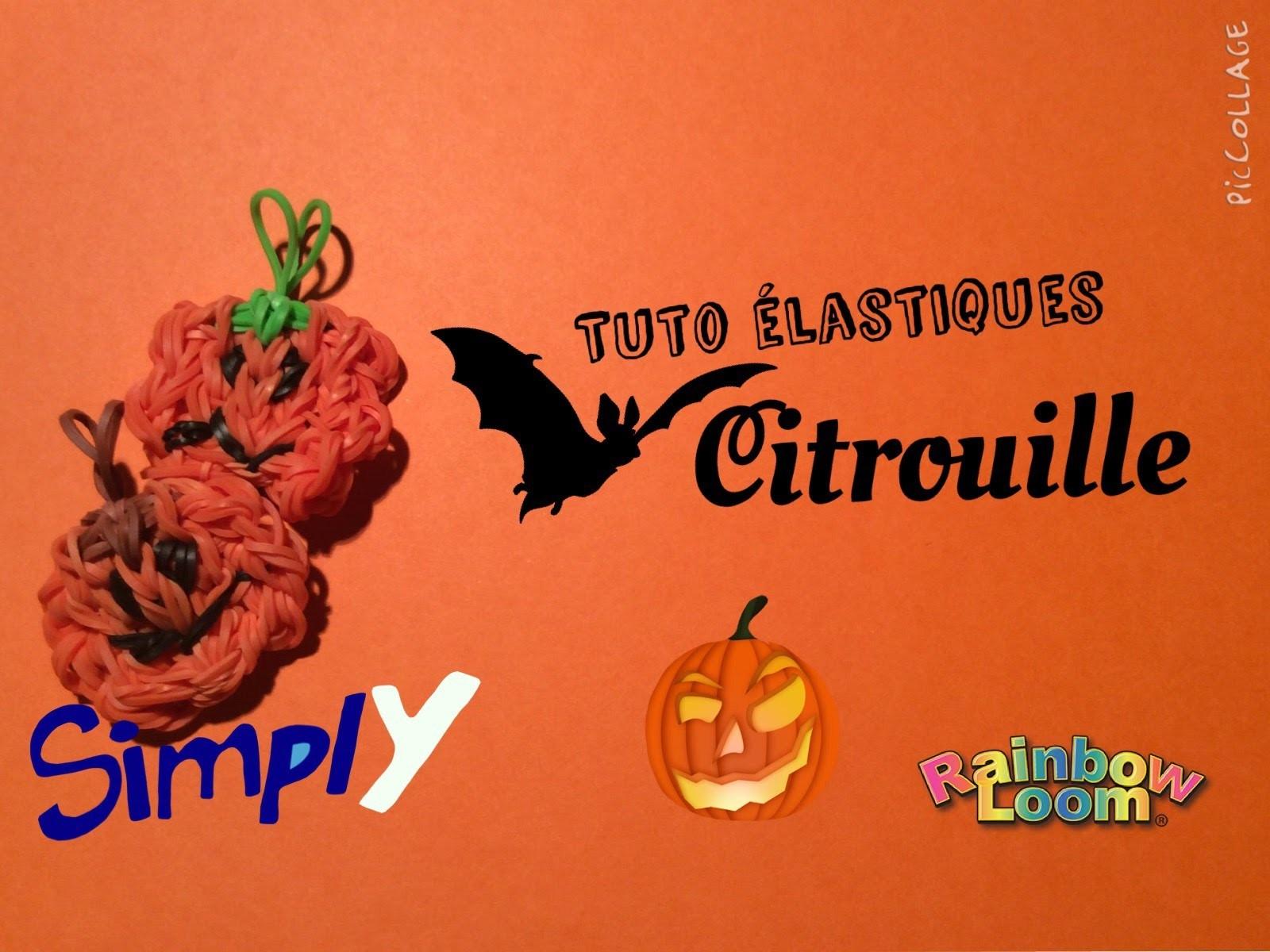 {Tuto Halloween #1} Citrouilles en élastiques Rainbow Loom | Simply