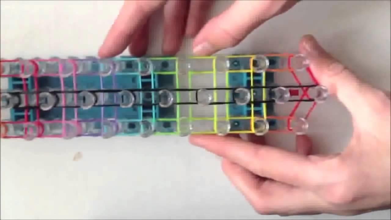 Faire un bracelet tressé Rainbow Loom arc-en-ciel (Tutoriel en Français) New 2014
