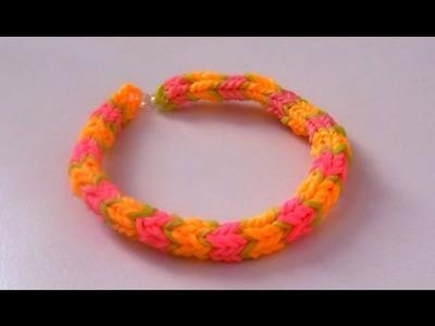 Tutoriel : Comment réaliser un bracelet élastique RAINBOW LOOM QUADRAFISH - français