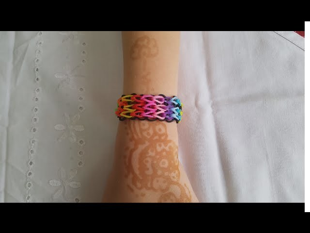 ♥♥ Rainbow Loom Bracelet Triple Single Multicolor ♥♥