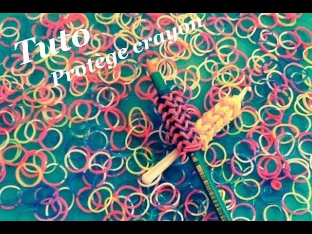 TUTO Protège crayon rainbow loom