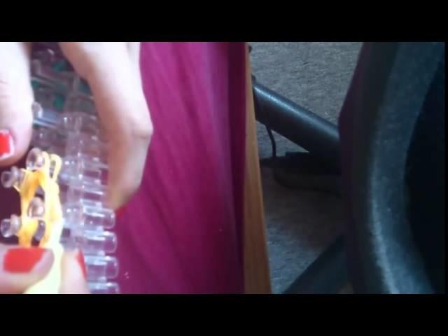 Bracelet élastique - Fleurs porte clef élastique en rainbow loom