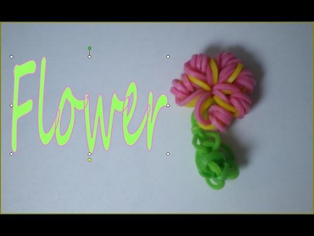 Fleur en rainbow loom